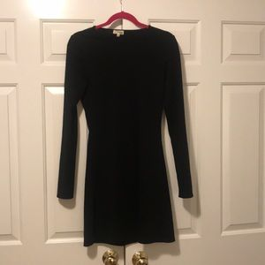 Aritzia Black long sleeve fit and flare dress!